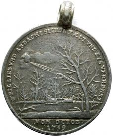 "Medal from the Prussian War 1740 ""Sharp Winter in Silesia"""