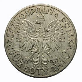 10 zlotych 1932 Head of Women Second Polish Republic Warsaw