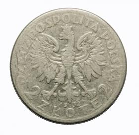 2 zlote 1932 woman's head Second Polish Republic Warsaw