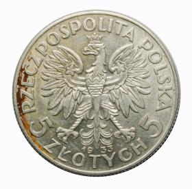 5 zlotych 1933 woman's head Second Polish Republic Warsaw