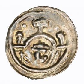 Bracteate type rataje Henry the Bearded or Henry II the Pious