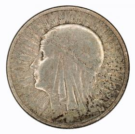 2 zlote 1933 woman's head Second Polish Republic Warsaw