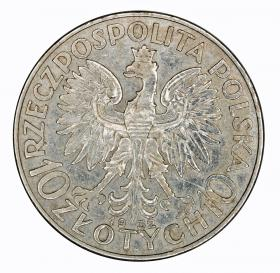 10 zlotych 193 Head of Women Second Polish Republic London