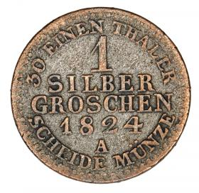 1 silver groschen 1824 Frederick William III Germany Prussia Berlin A