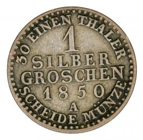1 silver groschen 1850 Frederick William IV Germany Prussia Berlin A