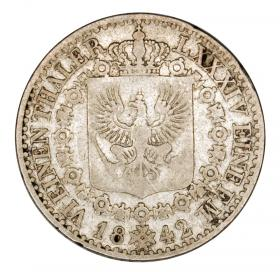 1/6 thaler 1842 Frederick William IV Prussia Dusseldorf D
