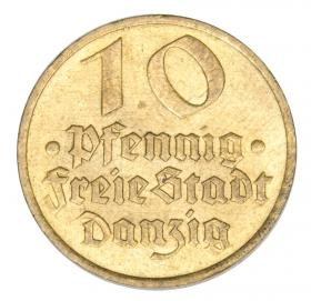10 pfennig 1932 Cod Free City of Gdansk