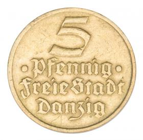 5 pfennig 1932 Flounder Free City of Gdansk