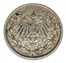 1/2 mark 1915 Wilhelm II, Prussia Berlin