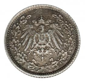 1/2 mark 1918 Wilhelm II, Prussia Berlin