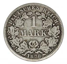 1 mark 1876 Wilhelm I Prussia Berlin