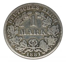 1 mark 1881 Wilhelm I Prussia Berlin