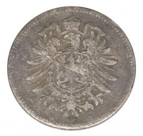 1 mark 1881 Wilhelm I Prussia Munich