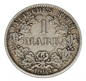 1 mark 1904 Wilhelm II, Prussia Berlin